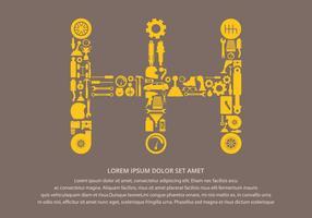 Gear Shift Automotive Teile Hintergrund vektor