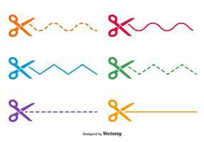 Schere punktierte Vektorlinien vektor