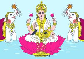 Lakshmi Vektor Hintergrund