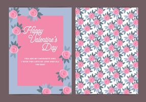Vektor Rosen Valentinstag Karte