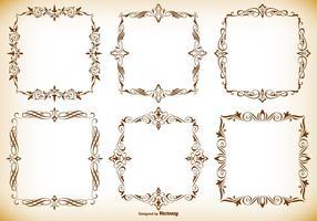 Dekorativa ramar samling vektor