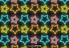 Vektor Neon Stars Pattern