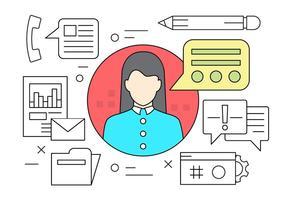 Kundenservice vektor