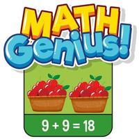 Mathe-Karteikarten-Design zum Hinzufügen von Zahlen