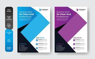 Business abstrakte Vorlage in blau und lila gesetzt