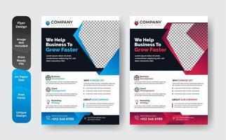 Business Book Cover Design-Vorlage gesetzt vektor
