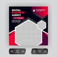 Corporate Social Media Post-Vorlage vektor