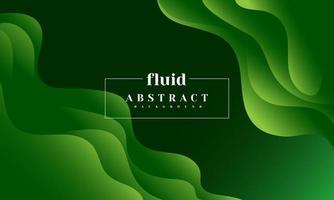 abstrakter Hintergrund des grünen Gradientenfluids