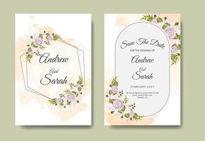Speichern Sie die Datumseinladungskarte für Hochzeiten vektor