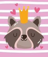 Waschbär mit Krone