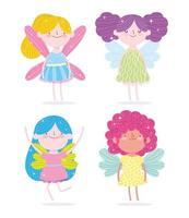 Prinzessin mit Flügeln gesetzt