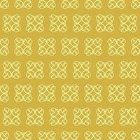 unikt stil gult prydnadsmönster vektor
