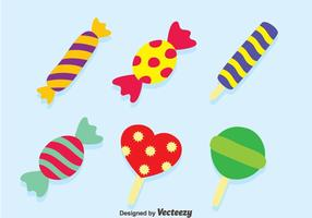 Trevligt Candy Vector Set