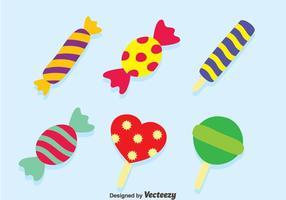 Trevligt Candy Vector Set