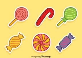 Handritad Candy Collection Vector