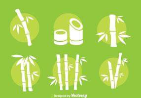 Bambus Weiß-Vektor-Set vektor