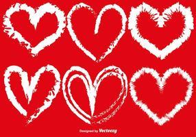 Vector Hand gezeichnete Herzen Set