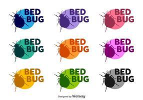 Bed Bugs Vector Silhouetten