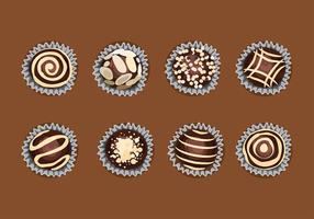 Toffee Top View Free Vector