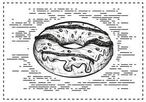 Freie Hand Drawn Donut Hintergrund