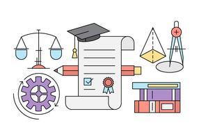 Freie Bildung Icons vektor