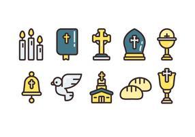 Comunión Enkel Vector ikonuppsättningar