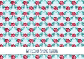 Free Vector Aquarell-Muster mit schönen Blumen