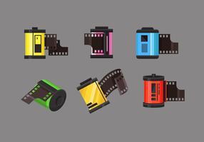 Film Kapsel Vector föremålsuppsättningar