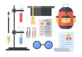 Chemie und Schule Vektor-Elemente