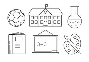 Free School Icons vektor