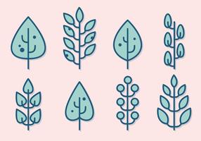 Kostenlose Minimalist Blätter Vector