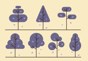 Fri Minimalist träd vektor