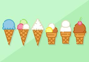 Kostenlose Minimalist Ice Cream Vector