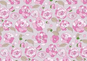Camellia mönster vektor