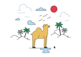 Fri Camel Vektor