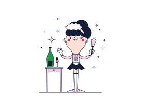 Freie Französisch Maid Vector