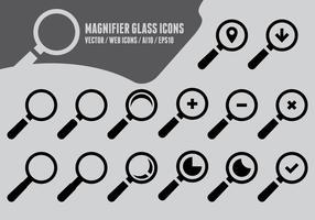 Vergrößerungsglas-Ikonen