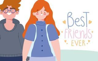 unga människor firar vänskapsdag