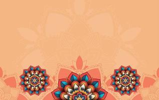 bakgrund med mandala mönster design