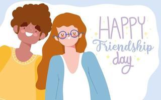 unga människor firar vänskapsdag vektor