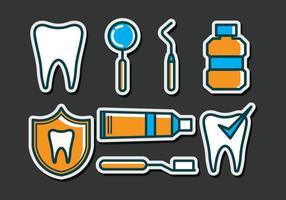 dentista Ikoner vektor