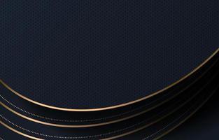 Schichten von schwarzen und goldenen Linien Hintergrund vektor