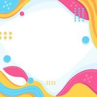 lekfull abstrakt färgvågbakgrund