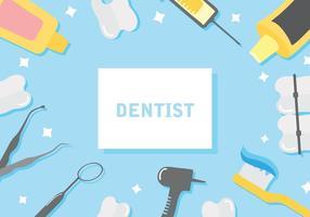 Fri tandläkare bakgrund vektor illustration