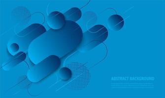 modernes blaues Gefälle abgerundetes geometrisches Design vektor