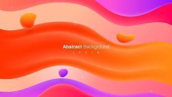 färgglada gradient vågiga vätska former komposition koncept vektor