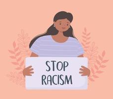 schwarze Leben sind wichtig und stoppen die Kampagne zur Sensibilisierung für Rassismus vektor