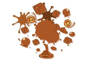 Freie süße Geschmolzene Caramel Vector Illustration