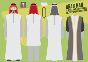 Arabischer Mann Kleidung und Accessoires vektor