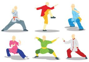 Freie Wushu Icons Vector